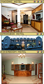 J C Botha Hotels, Masonic Hotel, kleinzee Hotel and Kokerboom Motel, kleinzee, Northern Cape